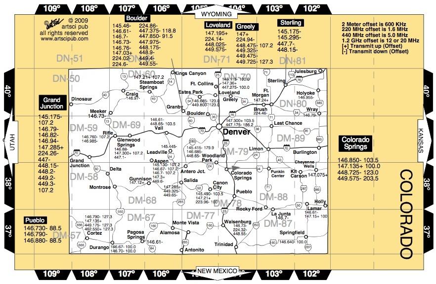 amateur band map