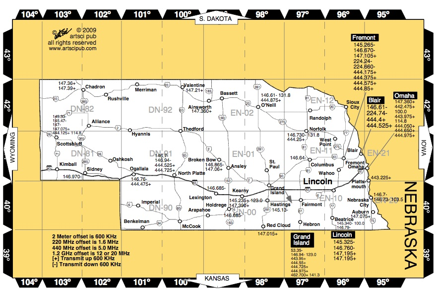 Amateur radio repeater Map for
